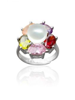WAIKIKI COLLECTION Kiani Swarovski Encrusted Pearl Cocktail Ring