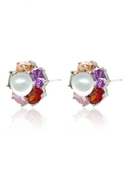 WAIKIKI COLLECTION Kiani Swarovski Encrusted Pearl Earrings