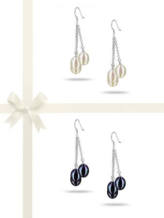 SULU SEA COLLECTION TRIPLE DROP PEARL EARRING GIFT SET