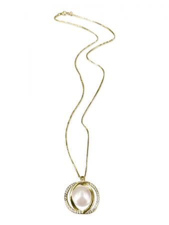 PACIFIC PEARLS ROYAL FALLS COLLECTION Diamond Encrusted Tennessee Waltz Pearl Pendant