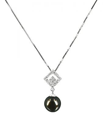PACIFIC PEARLS TAHITIAN COLLECTION Mosaic 11-12mm Tahitian Pearl Pendant