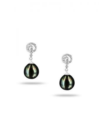 PACIFIC PEARLS TAHITIAN COLLECTION Jaipur Princess 11-12mm Tahitian Baroque Pearl Earrings