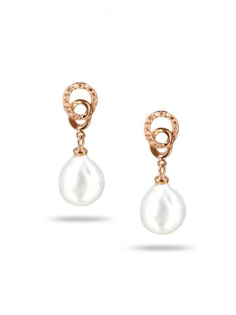 PACIFIC PEARLS SOUTH SEA COLLECTION Northern Lights South Sea Baroque Pearl Earrings