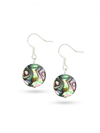 PACIFIC PEARLS NEW ZEALAND ABALONE COLLECTION Tia Abalone Statement Earrings