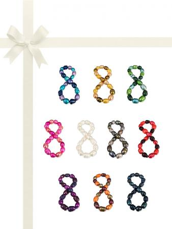 PACIFIC PEARLS RAINBOW REEF COLLECTION Ultimate 10-12mm Honey Dipper Pearl Bracelet Gift Set