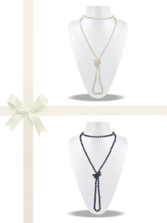 SOCIETY ISLANDS COLLECTION 400 Pearl Necklace Gift Set A