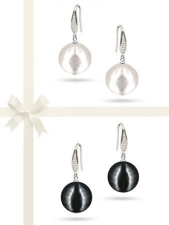 PACIFIC PEARLS VANUATU COLLECTION Classic 13mm Edison Pearl Earring Gift Set