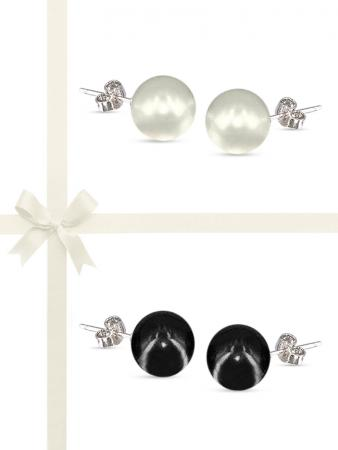 PACIFIC PEARLS VANUATU COLLECTION Classic 11mm Pearl Stud Earring Gift Set