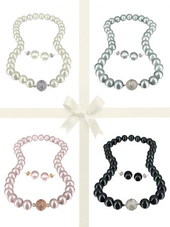 PACIFIC PEARLS VANUATU COLLECTION Ultimate 11-12mm Pearl Necklace & Earring Gift Set