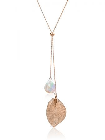 SUNSHINE COAST COLLECTION White Coin Pearl Necklace in 18K Rose Gold