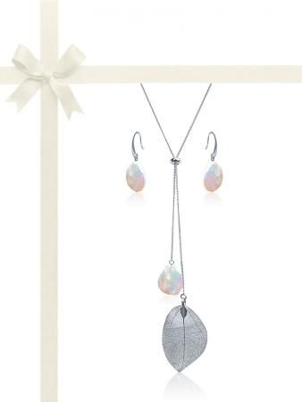 SUNSHINE COAST COLLECTION White Coin Pearl Gift Set in 18K White Gold