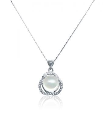 ROSE ATOLL COLLECTION Harmony Diamond Encrusted Pearl Pendant