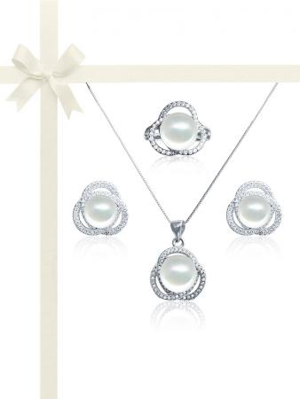 ROSE ATOLL COLLECTION Harmony Diamond Encrusted Pearl Gift Set