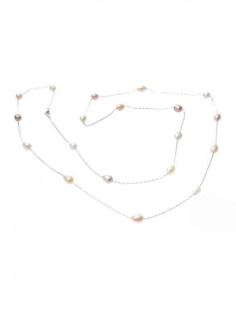 48_Inch_White__Peach_and_Lavender_Pastel_Tri-colour_-_Tin_Cup_Pearl_Necklace_on_Perspex.600