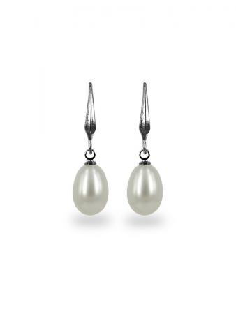 PACIFIC PEARLS KIRIBATI COLLECTION White 9-10mm Pearl Drop Earrings