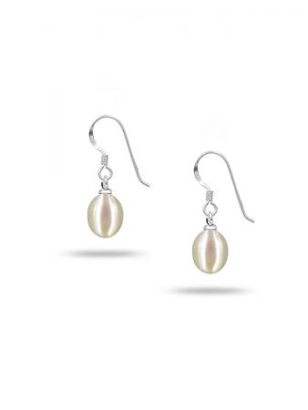 PACIFIC PEARLS SULU SEA COLLECTION White Pearl Drop Earrings