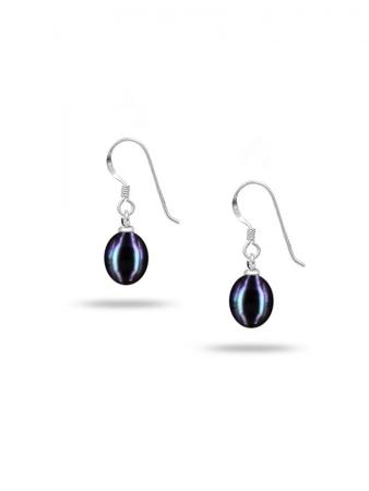 PACIFIC PEARLS SULU SEA COLLECTION Black Pearl Drop Earrings