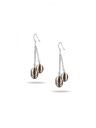 PACIFIC PEARLS SULU SEA COLLECTION Pink Triple Drop Pearl Earrings